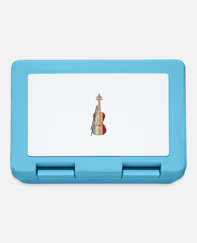 Guitar Lunchboxes - Violin Player - Lunchbox sapphire blue