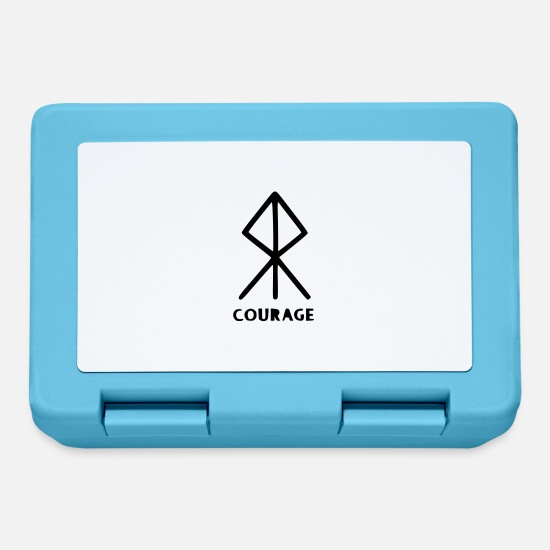 Germanic Tribes Lunchboxes - Rune for courage - Lunchbox sapphire blue