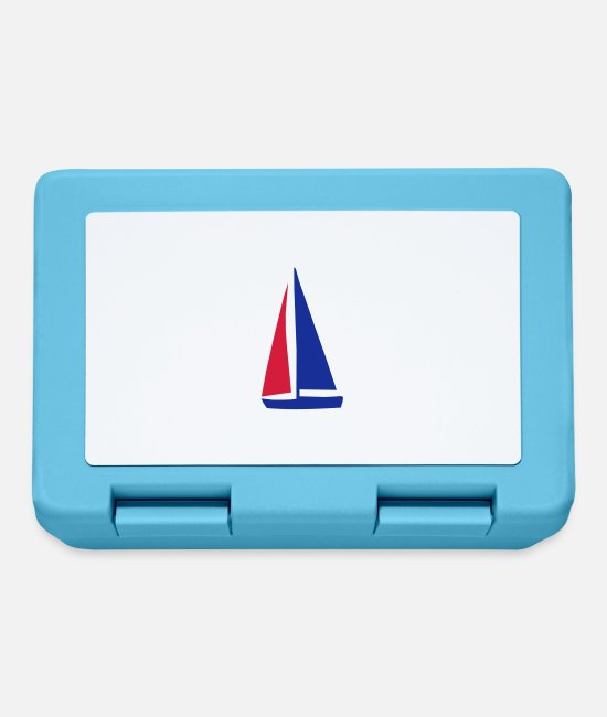 Water Lunchboxes - sailboat - Lunchbox sapphire blue