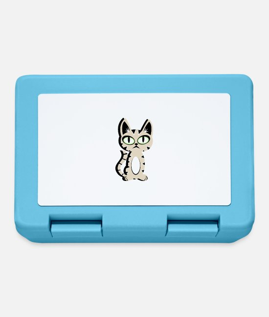 Domestic Cat Lunchboxes - Tiger cat domestic tiger domestic cat cat tomcat - Lunchbox sapphire blue