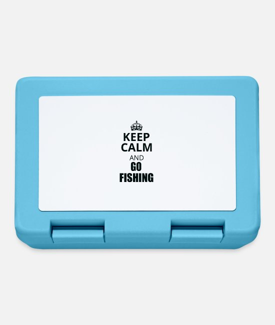 Keep Calm Lunchboxes - keep calm an go fishing - Lunchbox sapphire blue