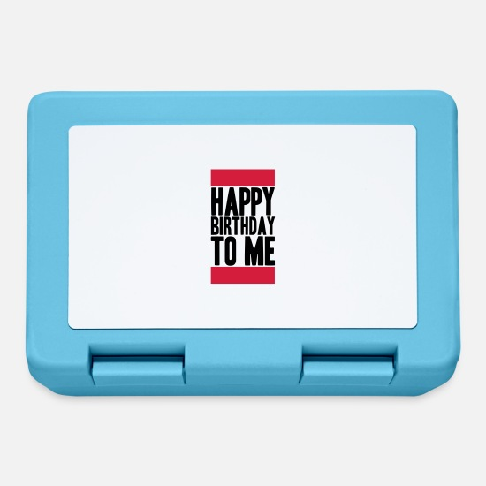 Compleanno Lunch boxes - Happy Birthday To Me Logo - Lunch box blu zaffiro