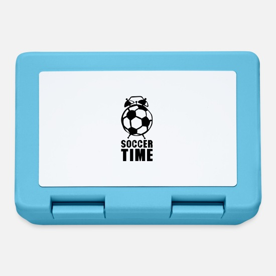 Balloon Lunchboxes - Soccer time alarm balloon ringtone - Lunchbox sapphire blue