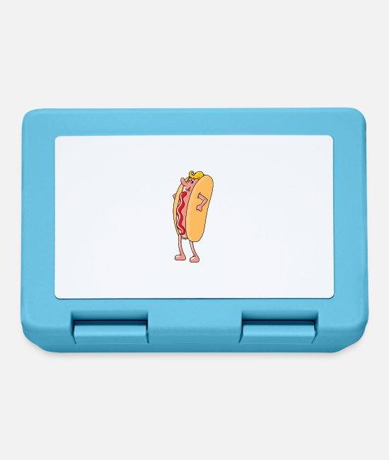 Hamburger Lunchboxes - hotdog hot dog sausages fast food fastfood14 - Lunchbox sapphire blue