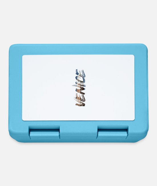 Travel Bug Lunchboxes - Venice Lyric - Venice lettering - gift - Lunchbox sapphire blue