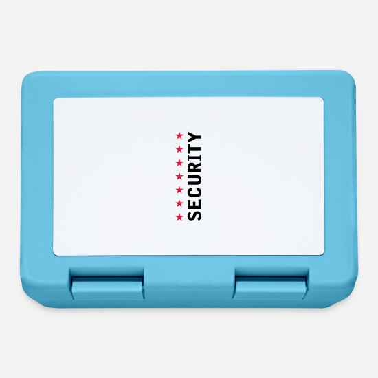 Security Lunchboxes - Security Text Logo - Lunchbox sapphire blue