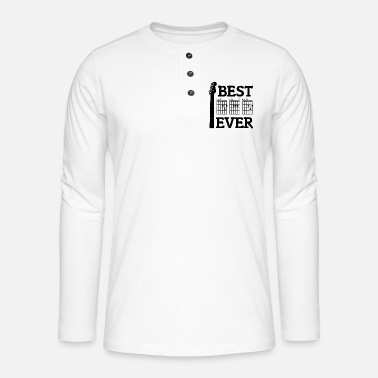 Guitarist Best Dad Ever Shirt DAD Chord Guitarist Father's Day - Henley long-sleeved shirt