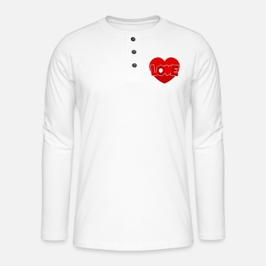 Love With Heart Love with heart - Henley long-sleeved shirt