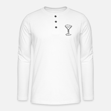 Wine Glass Glass wine glass wine symbol - Henley long-sleeved shirt