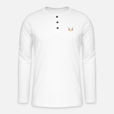 Tiger in Germany colors - Henley long-sleeved shirt