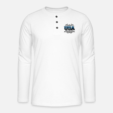 Usa usa - Henley long-sleeved shirt