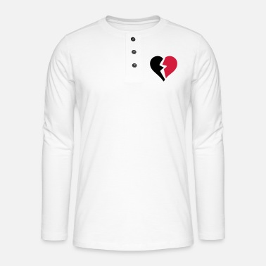 Breaking love heart heart break break break - Henley long-sleeved shirt