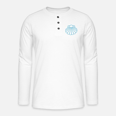 Luck Symbol Scallops as a good luck symbol - Henley long-sleeved shirt