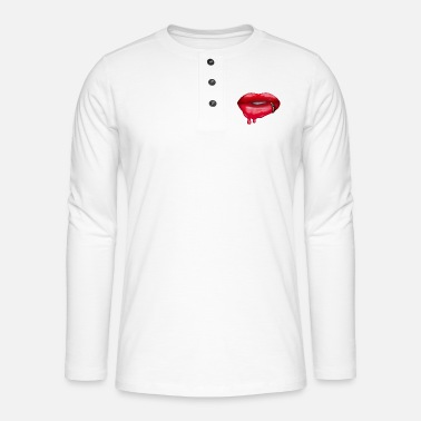 Dripping Lipstick - Henley long-sleeved shirt