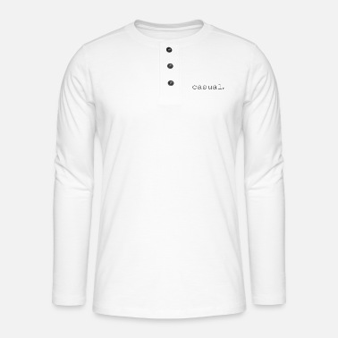 Occasion occasionnel. - T-shirt manches longues Henley
