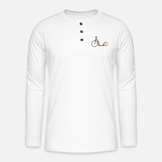 Enviromental Long sleeve shirts - Scooter two colors - Henley long-sleeved shirt white