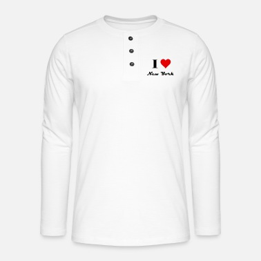 Lovestruck I Love New York - Henley Langarmshirt