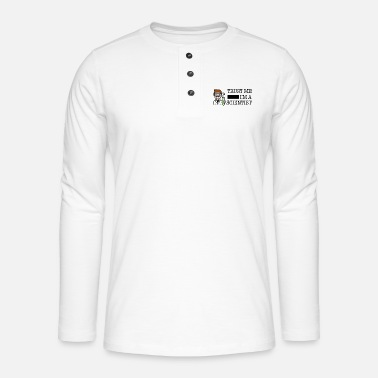 Trust me I'm a scientist male white - Henley long-sleeved shirt