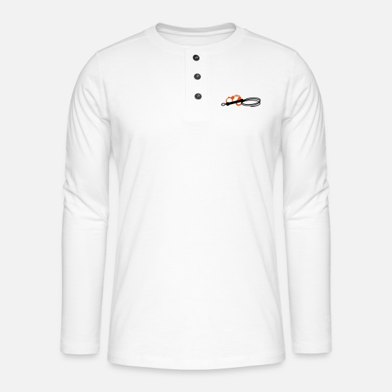 Argento Maglie a maniche lunghe - Whip & manette - Maglia a manica lunga Henley bianco