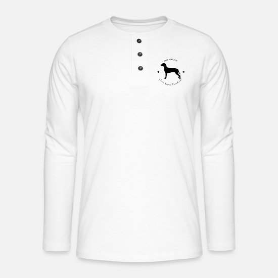 Illustration Long Sleeve Shirts - Dalmatian - Henley long-sleeved shirt white