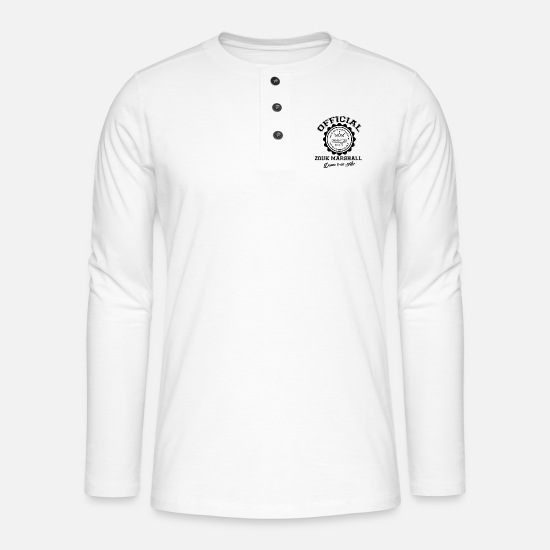 Guadeloupe Manches longues - Official Zouk marshall-bl - T-shirt manches longues Henley blanc