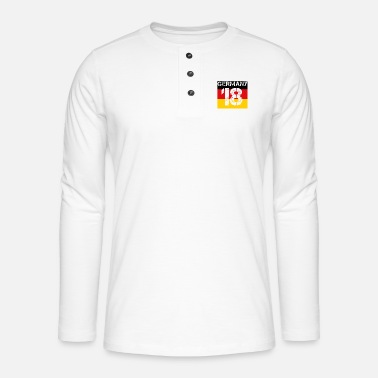 Germany football malls team wm em champion 18 - Henley long-sleeved shirt
