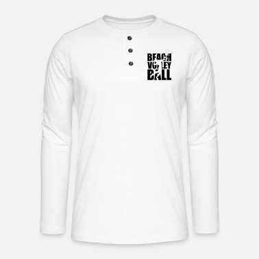 Beachvolleyball Beachvolleyball - Henley shirt met lange mouwen