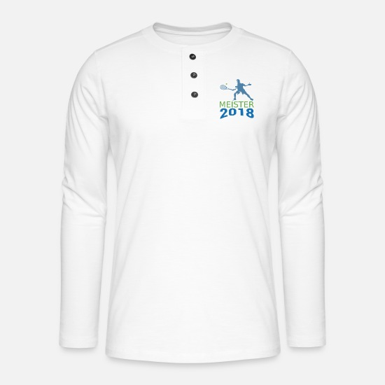 Championship Long Sleeve Shirts - Tennis Champion 2018 Championship Champions - Henley long-sleeved shirt white