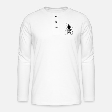 Fly-insect Insect - fly - Henley long-sleeved shirt