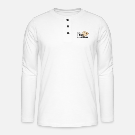 Pet Long sleeve shirts - Dogs Day Grudge - Labrador - Henley long-sleeved shirt white