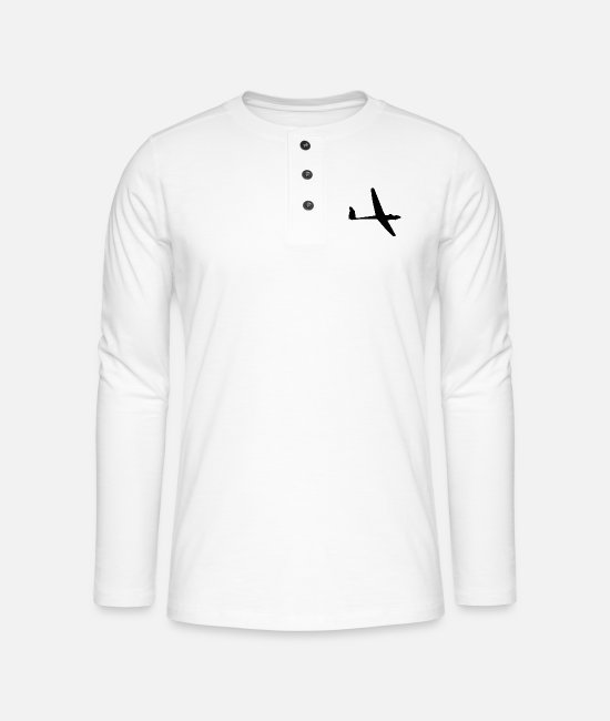 Pilot Long-Sleeved Shirts - Glider - Henley long-sleeved shirt white
