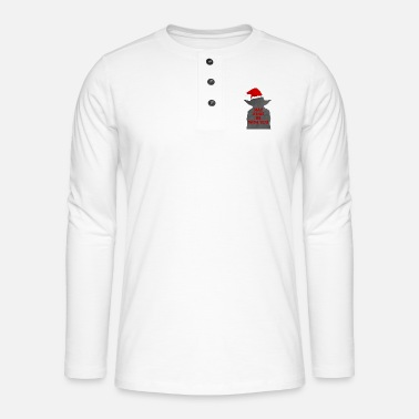 Lightsaber may xmas be with you - Henley long-sleeved shirt