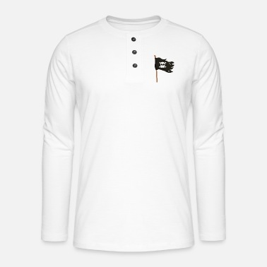 Pirate Flag Pirate flag - Henley long-sleeved shirt