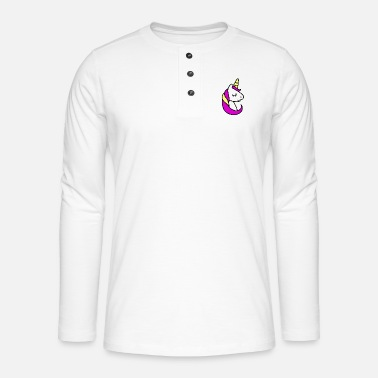 Girly Licorne girly - T-shirt manches longues Henley