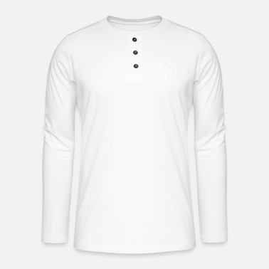 Scientology Anonymous Mask Illustration - Henley Langarmshirt