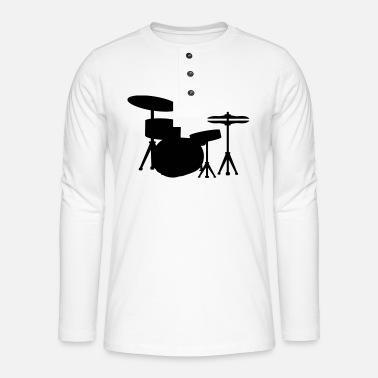 Drum Drums Drummer - T-shirt manches longues Henley