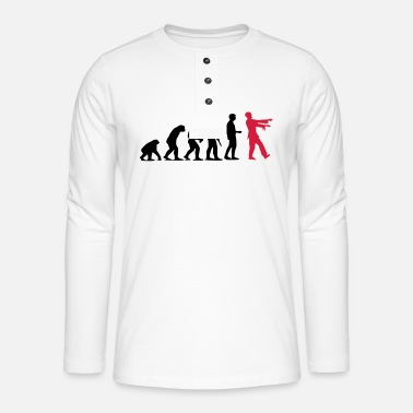 Zombie Evolution (two-color) - Henley long-sleeved shirt