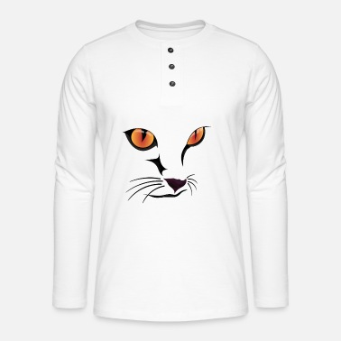 Cat Face Cat Face III / cat face - Henley long-sleeved shirt