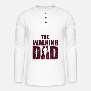 Daddy The walking Dad Tochter Sohn Kind Vater Papa Daddy - Henley Langarmshirt