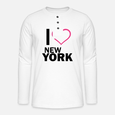 I Love New York i love new york - Henley pitkähihainen paita