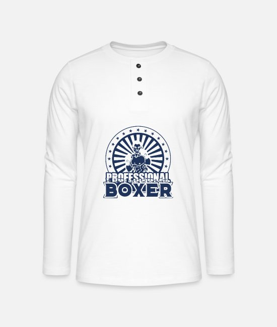 Boxer Long sleeve shirts - Boxer Boxer Boxer Boxer - Henley long-sleeved shirt white