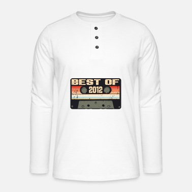 Date Of Birth Vintage 2012 birthday retro vintage gift - Henley long-sleeved shirt