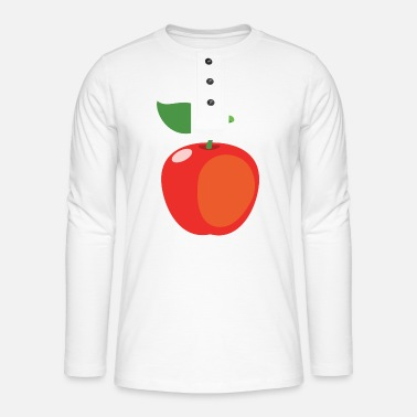 Kawaii Pomme - T-shirt manches longues Henley