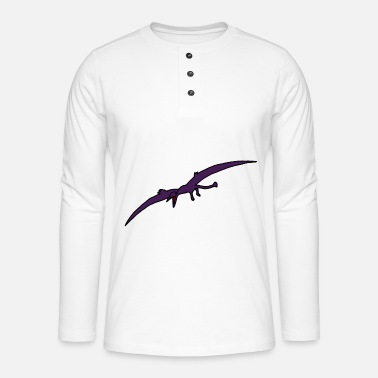 Primeval Times Pterodactyl, dino, dinosaurs, primeval times - Henley long-sleeved shirt