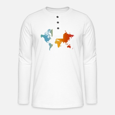 World Map World map world map - Henley long-sleeved shirt