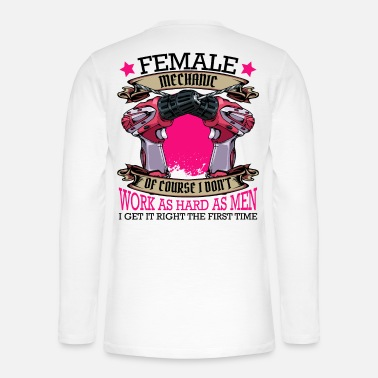 Female Mechanic Funny Sayings Craftswoman Gift - Henley long-sleeved shirt