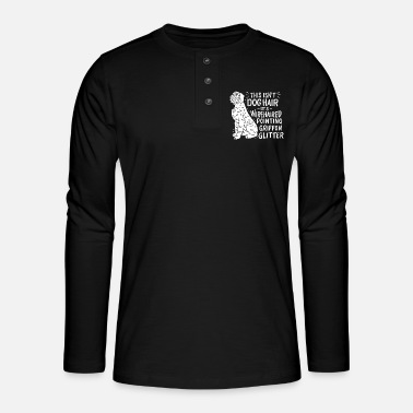 Wirehaired Pointing Griffon Wirehaired Pointing Griffon hondenbezitters - Henley shirt met lange mouwen