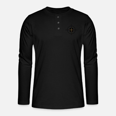 Target target - cible - T-shirt manches longues Henley