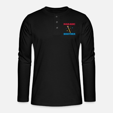 Dad / Brother / Sister / Mommy / Mother / Father - Henley long-sleeved shirt