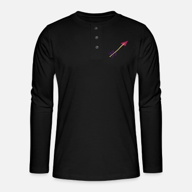 Water Underwear Symbol - Shooting Arrow - Henley long-sleeved shirt